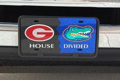 Georgia Florida - House Divided License Tag #GABulldogs #DGD #Florida #UGA #HouseDivided #LicensePlates