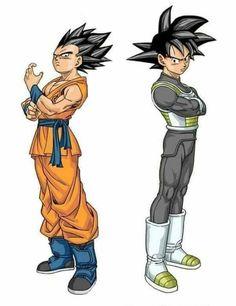 Vegeta and Goku outfit swap