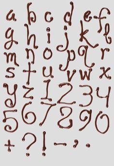 #chocolate  – Chocolate font by the guys at @Handmadefont  via @ArmandoRoqueCcs