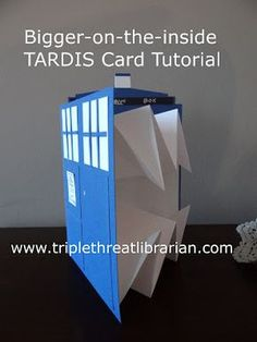 Triple Threat Librarian: Tutorial: Bigger-on-the-inside TARDIS card