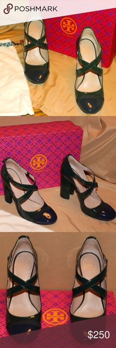 2f59f829b39 Tory Burch Amble Crisscross Pumps Tory Burch Jitney Green Black Amble Runway  Navy 100mm