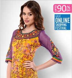 Get upto 90% Discount ON Women's Fashionable Kurtis.