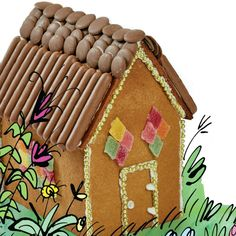 How to make a gingerbread shed - recipe and template guide. Inspired by The Secret Seven by Enid Blyton Enid Blyton Stories, Enid Blyton Books, The Secret Seven, Gingerbread, Shed, Ginger Beard, Barns, Sheds