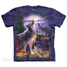 3 Wolf Moon Adult Unisex Animal Longsleeve Top The Mountain