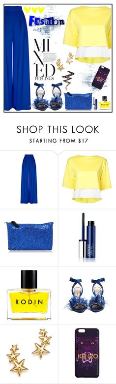 """""""Blue and Yellow"""" by ladychatterley ❤ liked on Polyvore featuring Hebe Studio, Taro Horiuchi, Dsquared2, Clinique, Rodin, Miu Miu, Bloomingdale's, Kenzo, NYX and Summer"""