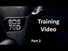 EOS 70D Training Video: Part 3 - Menu Tour - Shooting Menu - YouTube