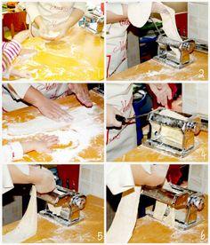 Pasta fresca paso a paso tmx Pasta Casera, Pasta Noodles, Gnocchi, Pasta Dishes, Food To Make, Pains, Cooking, Recipes, Noodle