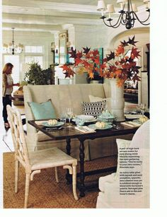 I adore this dining space. I have been telling my husband I want a high-back settee similar to this for our dining area, but in gray (due to kiddos).