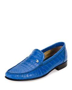 87864d158b8 Stefano Ricci Classic Crocodile Leather Loafer