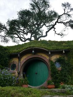 Hobbiton, New Zealand. The living movie set for The Hobbit and The Lord of the Rings Movies, New Zealand