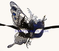 Blue Winged Metal Mask. $46.95 on partyoasis.com