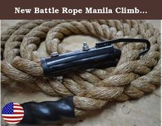 """New Battle Rope Manila Climbing Rope 25' with Clamp Strength Training Fitness Rope - Bomba Gear. Package Contents: 1 Bomba Climbing Rope. Specifications: Brand: Bomba Gear Length: 25' Weight: 13 lbs (approx 0.5 lbs per foot); Material: Manila; Origin: USA Descriptions: These Bomba Climbing ropes are made with pride in the U.S.A. and are clamped with care to ensure they are beyond safe. They are Grade A 1 1/2"""" Manila, which means they will handle anything everything you throw at them and..."""