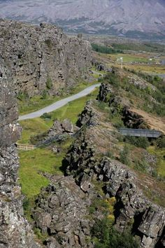 Thingvellir - Historical site and jewel of nature / Almannagja fissure