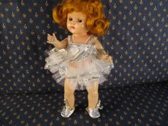Vintage Vogue 1950's Strung Ginny in Ballerina Outfit #DollswithClothingAccessories