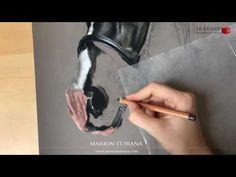 Horse eye pastel by Marion Tubiana - YouTube