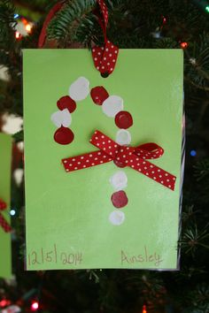 Thumbprint Candy Ornament