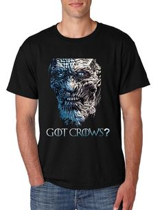 Men's T Shirt Got Crows? Cool Trendy Tshirt Popular Top  #gameofthrones #crow #got #trendy #tshirt