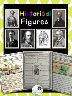 Historical Figures Packet. It has graphic organizers, writing prompts, Venn Diagrams, and multiple choice assessments for 6 famous Americans: Benjamin Franklin, Harriet Tubman,  Theodore Roosevelt, George Washington Carver, Lewis & Clark, and Thomas Jefferson.
