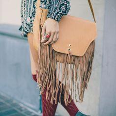 on sale 8b935 0cc74 Camel Fringed Tote Bag, Nectar Clothing