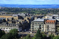 New Town - Built in stages between the 18th and 19th centuries, it retains much of the original neo-classical and Georgian period architecture. Princes Street on the foreground is the main shopping street.