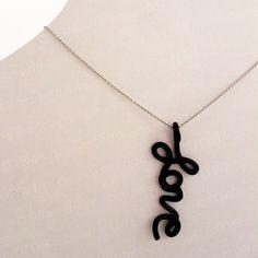 Valentine's Gift for Her - Love - Christian Pendant - Love Pendant - Love Necklace - Polymer Clay Pendant. $12.00, via Etsy.