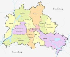 Administrative divisions map of SaxonyAnhalt Maps Pinterest