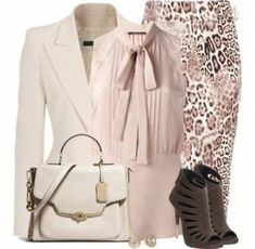 "Love the outfit, but without the jewelry.""Animal Print Tube Skirt"" by… Classy Outfits, Chic Outfits, Fashion Outfits, Womens Fashion, Office Fashion, Work Fashion, Fashion Fashion, Business Attire, Business Fashion"