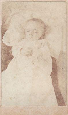 Postmortem Baby with folded hands CDV by FunerealEphemera on Etsy, $40.00