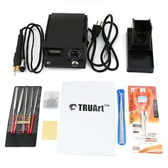TRUArt Stage 2 Single Pen Professional Woodburning Detailer Tool with  Digital Temperature Control, 20 Tips and Case: Professional-grade imported  tool for ...