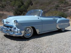 1951 #Chevrolet #BelAir #Convertible looking great in light blue! #Classic #Style #Design #Chrome #Beauty