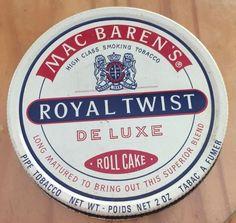 VINTAGE 1970-80s MAC BARENS ROYAL TWIST COLLECTIBLE TOBACCO TIN