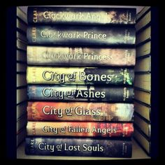 SERIOUSLY THO read every single one! you won't regret it i promise :D - Cassandra Clare The Mortal Instruments and The Infernal Devices