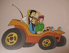 hanna-barbera 1970s | ... 19 speedbuggy hanna barbera cel original production cel of speed buggy
