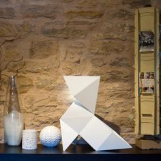 ORIGAMI lamp (various sizes and colours). Designed by Nathalie Be. Available on http://www.darwinshome.com/en/lighting/655-origami-lamp-various-sizes-and-colours.html