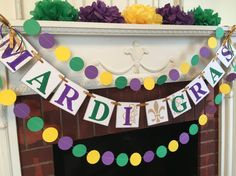 Mardi Gras Decorations Mardi Gras Banner by anyoccasionbanners