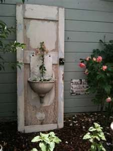 I thing this is a cute way to reuse an old door!