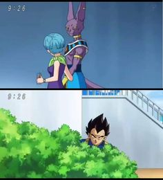 Stalking is a sign of true love. XD  Vegeta acting like a yandere, lol