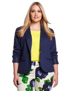 eloquii Ponte Preppy Jacket Women's Plus Size Blazer Plus Size, Plus Size Suits, Curvy Girl Fashion, Love Fashion, Plus Fashion, Womens Fashion, Fashion News, Plus Zise, Mode Plus