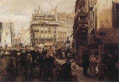 Adolph von Menzel - A Paris Day, 1869 Germany