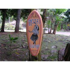 "Hula Hotel Lounge | Vintage Hawaiian Sign 30"""