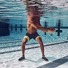 """The most important factor for improving cardiorespiratory fitness (cardio or CR) is the intensity of the workout. Changes in CR fitness are directly related to how """"hard"""" an aerobic exercise is performed. Water Aerobic Exercises, Swimming Pool Exercises, Explosive Workouts, Pool Workout, Swimming Pools, Swimming Tips, Trampoline Workout, Ab Exercises, Pilates"""