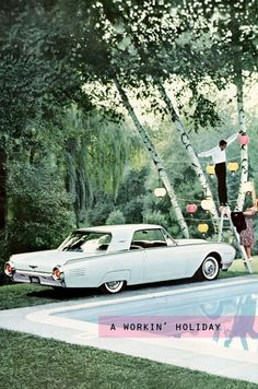 *sigh*....my parents had a convertible Thunderbird just like this when I was in elementary school.  Was so fun!