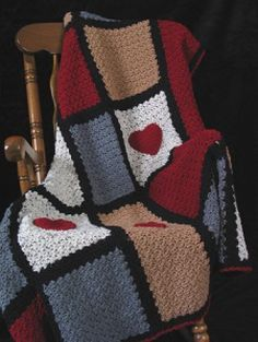 Here's My Heart Afghan | Crochet Pattern | YouCanMakeThis.com