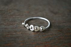 Hammered Dot Ring  Kinetic Jewelry  Silver by GatherAndFlow, $25.00