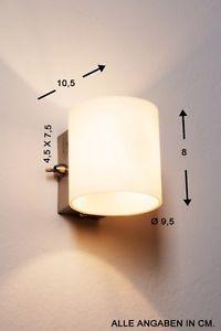 Wandlampe-Wofi-Wandleuchte-Flurlampe-Glas-Lampe-Leuchte-Wandlampen-mit-Schalter