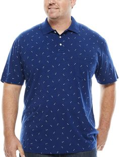 The Foundry Big & Tall Supply Co. Mens Big And Tall, Big & Tall, Shirt Sleeves, Cotton Fabric, Polo Shirt, Men Casual, Sleeve Pattern, Mens Tops, Clothes