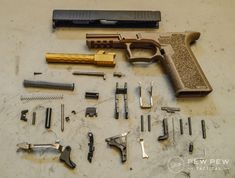 Want to build your own unregistered Glock that's completely custom to you? We cover essential tools, all build instructions with tons of photos, and our favorite picks for each Glock component part. Tactical Pistol, Ar Pistol, Tactical Gear, Glock 22, Glock Guns, Custom Glock, Concealed Carry Holsters, Homemade Weapons, Home Defense