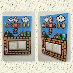 Super Mario switch light frame hama perler beads by ikasuyanto