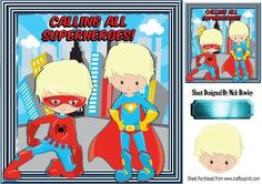 Super Boys super heroes 8x8 on Craftsuprint - Add To Basket!