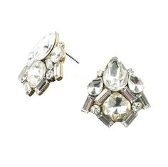 Lorraine Studs, Crystal by Moon and Lola | Charm & Chain